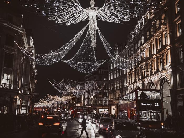 kerst in londen Regent Street Londen