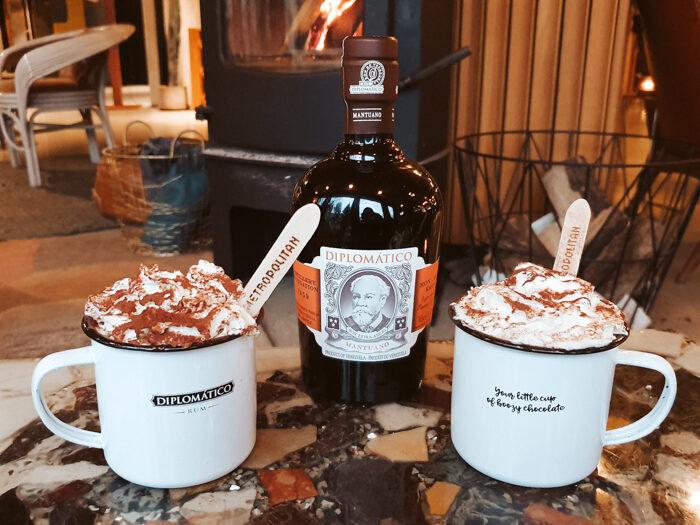 boozy hot chocolate diplomatico rum