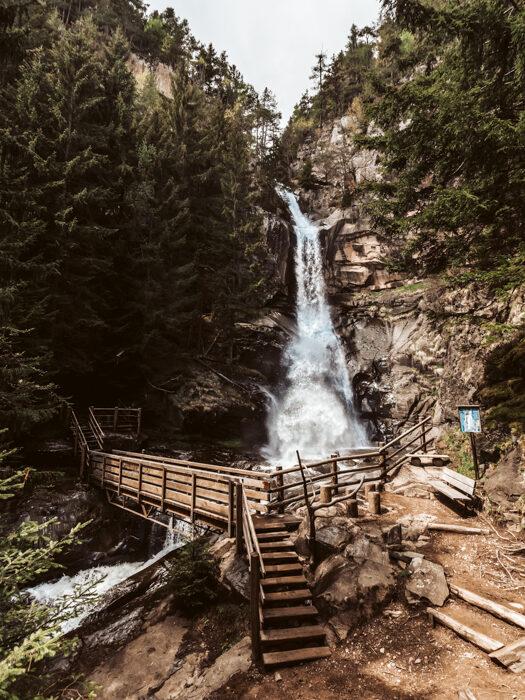 Barbiano waterfall Sud tirol