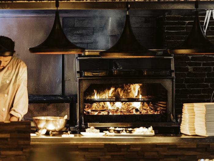 Open vuur bij Restaurant Wils