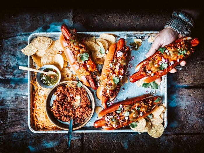 Chili Cheese hotdog