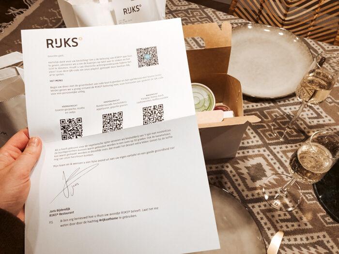 Rijks restaurant voor thuis amsterdam thuisbezorg take away