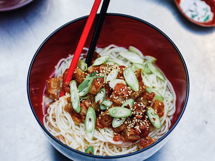 Recept Chinese noedels met szechuangroente